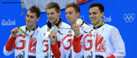 image Rio 2016 4x200m freestyle silver medallists
