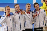 image of silver medallists, Glasgow Commonwealth Games